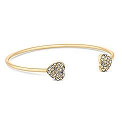 Lipsy - Gold heart charm bangle