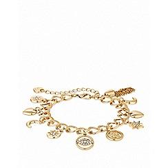 Lipsy - Gold plated clear celestial charm bracelet