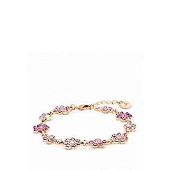Lipsy - Rose gold plated pink floral bracelet