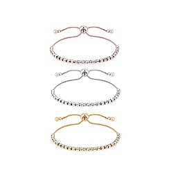 Lipsy - Mixed plate clear multipack toggle bracelet