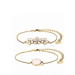 Lipsy - Enamel flower 2 pack bracelets