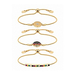 Lipsy - Bright multicolour wristwear pack