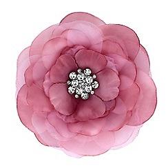 Mood - Pink floral crystal brooch