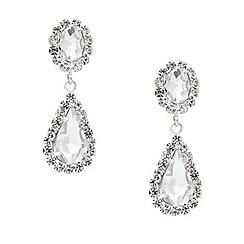 Mood - Diamante crystal surround teardrop earring