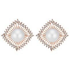 Mood - Pearl fan earrings