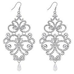 Mood - Ornate oversized drop earrings