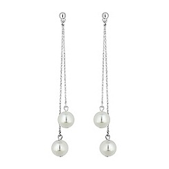 Mood - Pearl drop thread through earrings