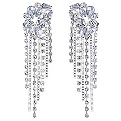 Mood - Crystal cluster drop earrings