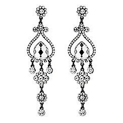 Mood - Ornate crystal drop earrings