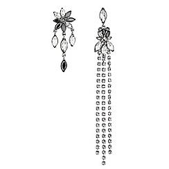 Mood - Crystal mismatch floral earrings