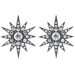 Mood - Crystal star stud earrings