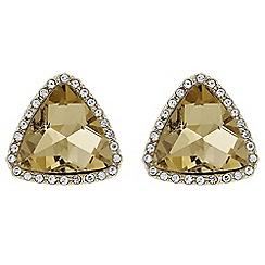 Mood - Crystal triangle stud earrings