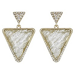 Mood - Triangle crystal shimmer drop earrings