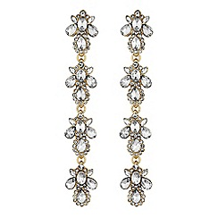 Mood - Crystal cluster droplet earrings