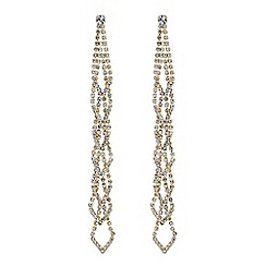 Mood - Diamante long drop earrings