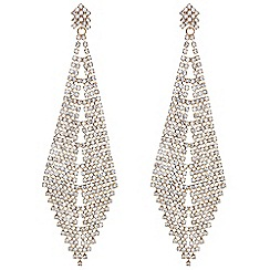 Mood - Crystal oversized chandelier earrings