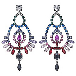 Mood - Crystal rainbow chandelier earrings