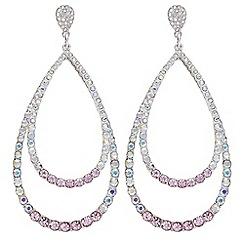 Mood - Oversized crystal teardrop earrings