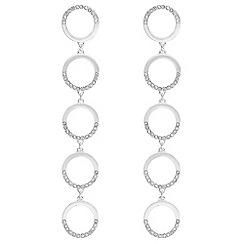Mood - Pave circle drop earrings