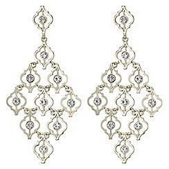 Mood - Ornate crystal chandelier earrings