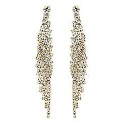 Mood - Diamante twist drop earrings