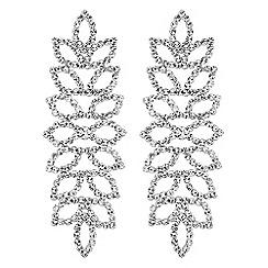 Mood - Crystal leaf chandelier earrings