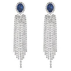 Mood - Oval diamante drop earrings