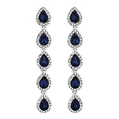 Mood - Crystal multi peardrop earrings