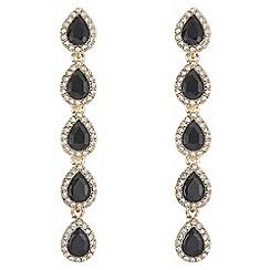Mood - Multi crystal peardrop earrings
