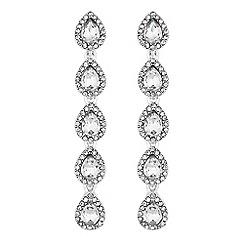 Mood - Crystal multi peardrop earrings