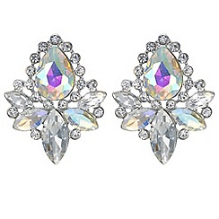 Mood - Aurora borealis crystal cluster earrings