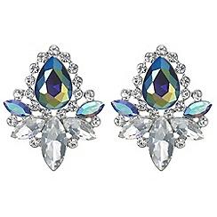Mood - Metallic crystal cluster earrings