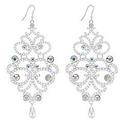Mood - Oversized pearl chandelier earrings