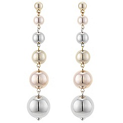 Mood - Multi tone sphere drop earrings