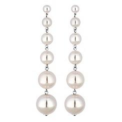 Mood - Pearl sphere drop earrings