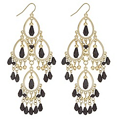 Mood - Jet beaded statement earrings