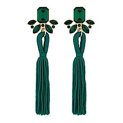 Mood - Crystal tassel drop earrings