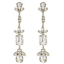 Mood - Crystal mixed shape drop earrings