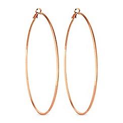 Mood - Rose gold hoop earrings