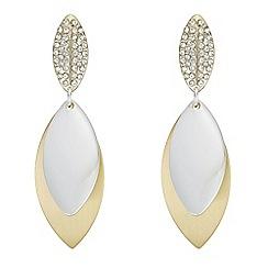 Mood - Pave leaf drop earrings