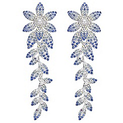 Mood - Crystal flower drop earrings