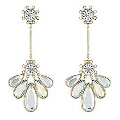 Mood - Crystal petal drop earrings