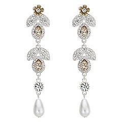 Mood - Crystal floral drop earrings
