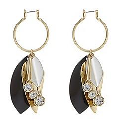 Mood - Monochrome floral earrings