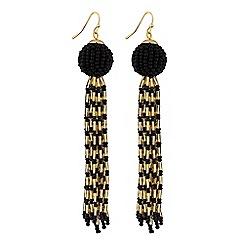 Mood - Beaded tassel drop earrings