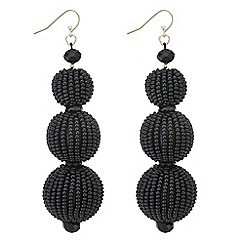 Mood - Beaded sphere drop earrings