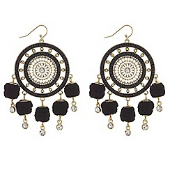 Mood - Pom pom disc earrings