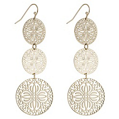 Mood - Filigree disc drop earrings