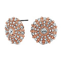 Mood - Pave disc stud earrings