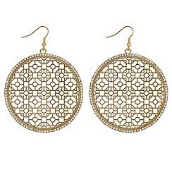 Mood - Large filigree disc earrings